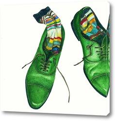 Картина Зеленые ботинки