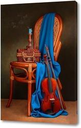 Картина Натюрморт со скрипкой и свечой