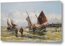 Постер Морской флот на Балтийском море