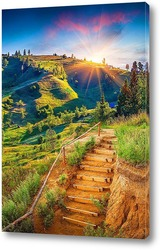 Постер Рассвет над долиной