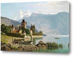 Замок Оберхофен на озере Тун, Швейцария