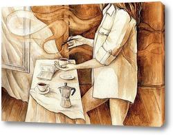 Постер Танец кофейной кисти