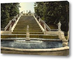 Постер Петергоф золотая лестница, Санкт-Петербург, Россия 1890-1900 гг