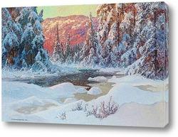 Картина Зимняя долина, 1918