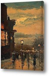 Картина Дождливым утром, Париж