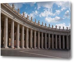 Постер Колоннада на площади Святого Петра в Риме