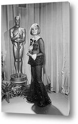 Постер Барбара Стрейзанд с Оскаром