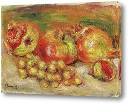 Постер Гранаты и виноград