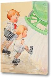 Картина Дети возле оросителя