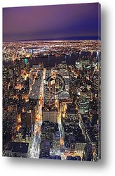 Manhattan in New York City at dusk