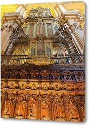 Постер Интерьеры кафедрального собора Малаги