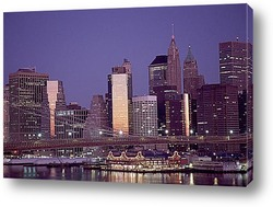 Манхэттен ночью.