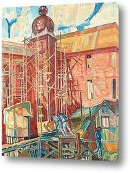 Картина Строительство Стокгольмской ратуши
