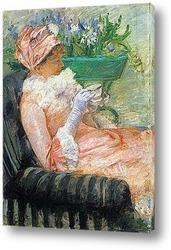Постер За чашкой чая.(портрет Лидии),1979г,