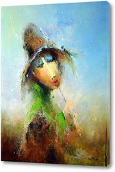 Картина Пастушок со стрекозой на шляпе