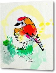 Картина Акварельная птичка