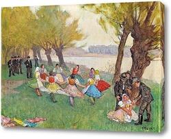 Картина Отдых в прибрежной полосе