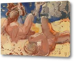 Картина Фигуры на пляже