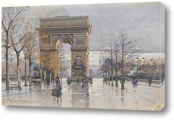 Постер Париж.Триумфальная арка