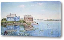 Картина Утро на озере