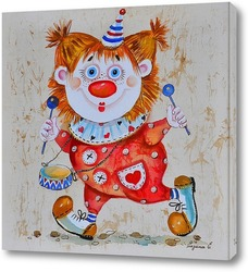 Картина Рыжий клоун