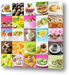 Постер Beautiful food collage 8