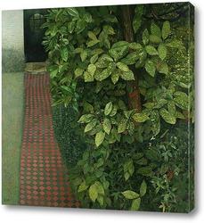 Картина Пейзаж с чёрной дверью