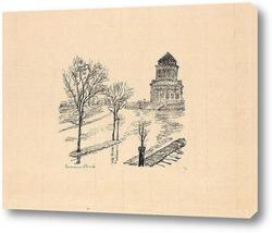 Картина Нью Йорк, монумент Гранд