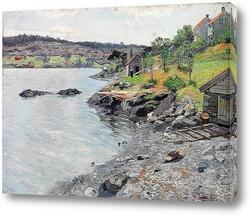 Постер Норвежский береговой пейзаж, 1889