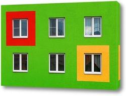Постер Яркий фасад