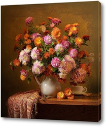 Постер Рыжий ноябрь. Хризантемы