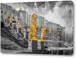 Картина статуи в Петергофе