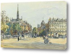 Картина Место Св.Михаила в Париже