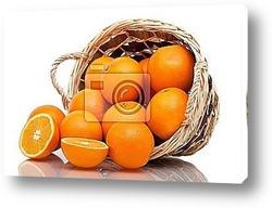 Постер Basket of oranges