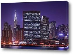 Ночное небо Нью-Йорка
