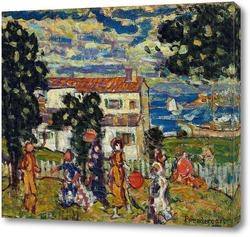 Картина Деревня Новой Англии