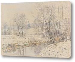 Картина Речной ландшафт в Гессене