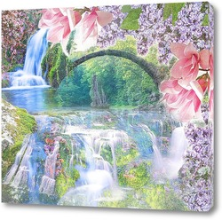 цветочный водопад
