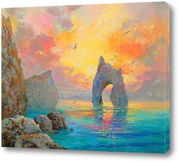 Картина Скалы на море