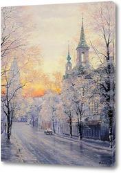 Картина Москва зимняя