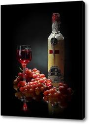 Постер виноградное вино