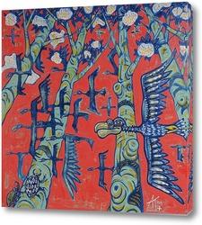 Картина Птицы в деревьях 3