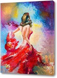 Картина Танец в красном платье