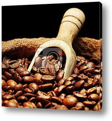 Кружка кофе и зерна
