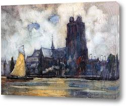 Постер Голландский водный путь