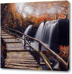 Постер Осенний водопад