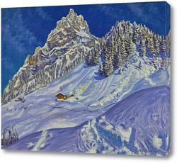 Картина Кандерштег зимой