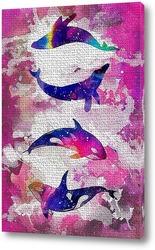 Картина Космические киты