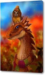 Постер Сова и ее дракон