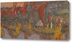 Картина Красные паруса. Поход Владимира на Корсунь. 1900